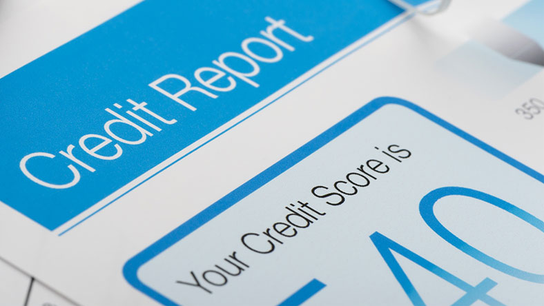 A graphic showing a user their credit score
